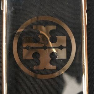 Tory Burch IPhone 6 Case clear plastic and gold